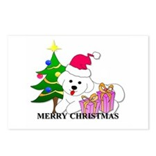 Bichon Frise Christmas Postcards (Package of 8)