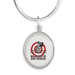 Mission Responsi-Bull Silver Oval Necklace