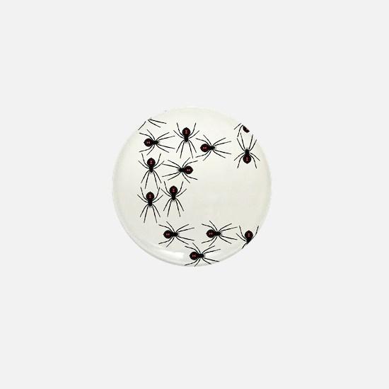Creepy Crawly Spiders Mini Button (10 pack)
