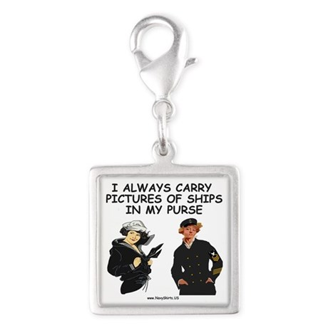 Navy-Humor-Pictures-Of-Ships- Silver Square Charm