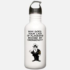Navy-Humor-Lack-Of-Pla Sports Water Bottle