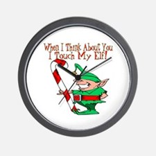 Touch My Elf Wall Clock