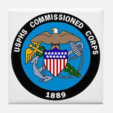 USPHS-Commissioned-Corps-Logo-Bonnie. Tile Coaster