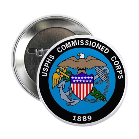"""USPHS-Commissioned-Corps-Logo-Bonnie. 2.25"""" Button"""
