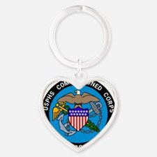 USPHS-Commissioned-Corps-Logo-Bonni Heart Keychain