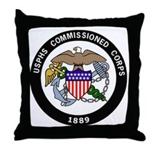 USPHS-Commissioned-Corps-White.gif Throw Pillow
