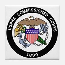 USPHS-Commissioned-Corps-White.gif Tile Coaster