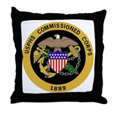USPHS-Commissioned-Corps-Gold.gif Throw Pillow