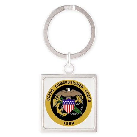 USPHS-Commissioned-Corps-Gold.gif Square Keychain