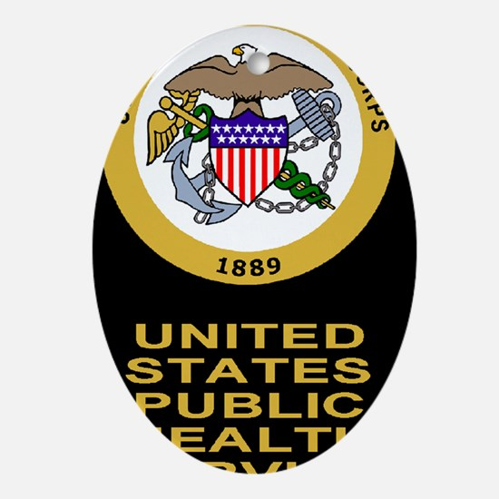 USPHS-Corps-Greeting.gif Oval Ornament