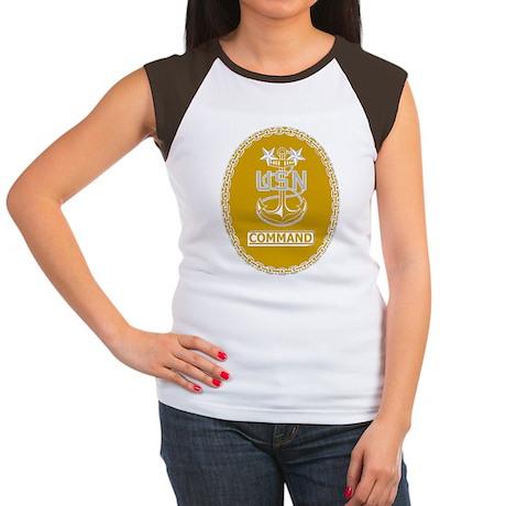Navy-CMC-Black-Shirt-2 Women's Cap Sleeve T-Shirt