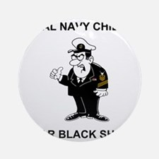 Navy-Humor-Black-Shoes-CMC.gif Round Ornament