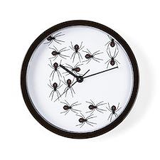 Creepy Crawly Spiders Wall Clock