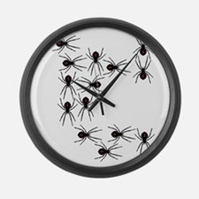 Creepy Crawly Spiders Large Wall Clock
