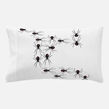 Creepy Crawly Spiders Pillow Case