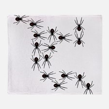 Creepy Crawly Spiders Throw Blanket