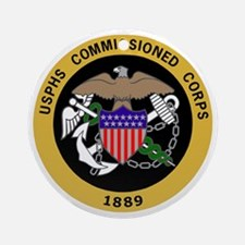 USPHS-Commissioned-Corps-Yellow.gif Round Ornament