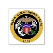 "USPHS-Commissioned-Corps-Ye Square Sticker 3"" x 3"""