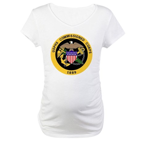 USPHS-Commissioned-Corps-Gold-3. Maternity T-Shirt