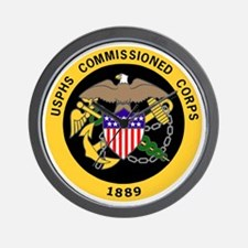 USPHS-Commissioned-Corps-Gold-3.gif Wall Clock