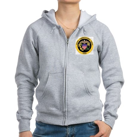 USPHS-Commissioned-Corps-Gold-3 Women's Zip Hoodie
