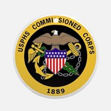 USPHS-Commissioned-Corps-Gold-3.gif Round Ornament