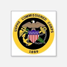 "USPHS-Commissioned-Corps-Go Square Sticker 3"" x 3"""