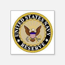 """USNR-Logo-Khaki.gif Square Sticker 3"""" x 3"""""""