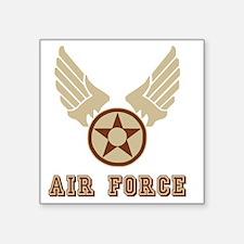 "USAF-Shirt-1-Brown-Khaki-X. Square Sticker 3"" x 3"""