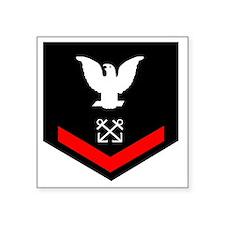 "Navy-BM3-Squared.gif Square Sticker 3"" x 3"""
