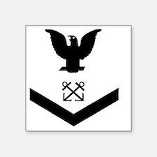 """Navy-BM3-Squared-Whites.gif Square Sticker 3"""" x 3"""""""