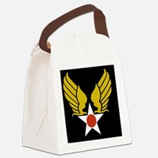 USAF-Wings-Black-Cap.gif Canvas Lunch Bag