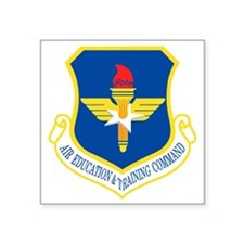 "USAF-AETC-Bonnie.gif Square Sticker 3"" x 3"""