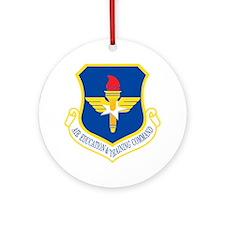 USAF-AETC-Bonnie.gif Round Ornament
