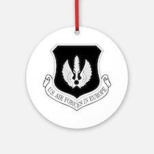 USAF-USAFE-Shield-BW-Bonnie.gif Round Ornament