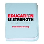 Education is Strength baby blanket