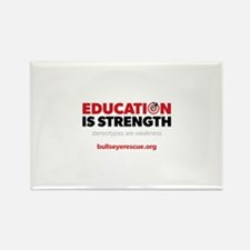 Education is Strength Rectangle Magnet