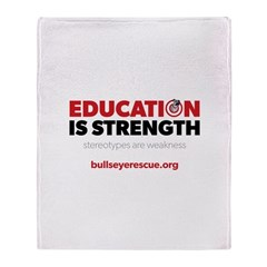 Education is Strength Throw Blanket
