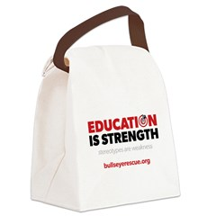 Education is Strength Canvas Lunch Bag