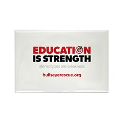 Education is Strength Rectangle Magnet (10 pack)