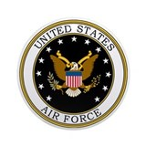 Air force Round Ornaments