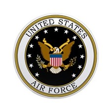 USAF-Logo-7-Black.gif Round Ornament