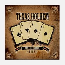 Texas Holdem Tile Coaster