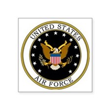 "USAF-Logo-7-Black.gif Square Sticker 3"" x 3"""