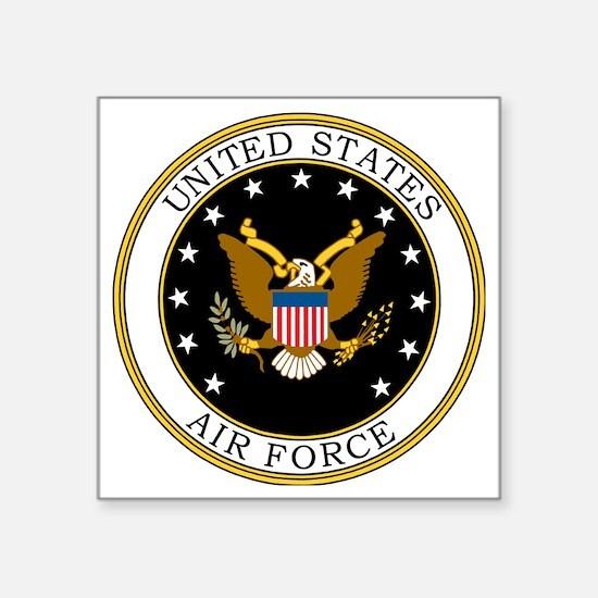 "USAF-Logo-7-Black.gif Square Sticker 3"" x 3"""