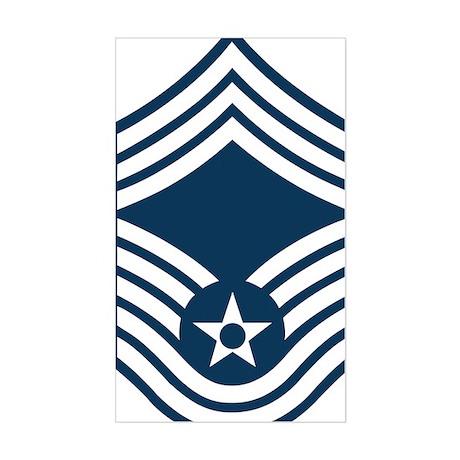 USAF-CMSgt-X.gif Sticker (Rectangle)