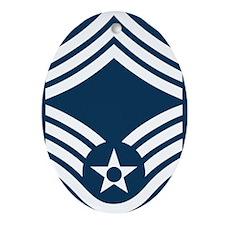 USAF-CMSgt-X.gif Oval Ornament