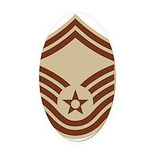 USAF-SMSgt-Khaki-Squared.gif Oval Car Magnet