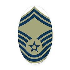 USAF-SMSgt-Green-Squared.gif Oval Car Magnet