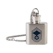 USAF-SMSgt-Black-Shirt Flask Necklace